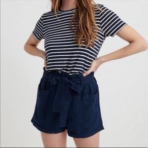 Lucky Brand Paperbag Linen Shorts